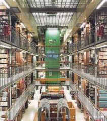 Salah satu perpustakaan utama di University of Oxford, Oxfordshire UK