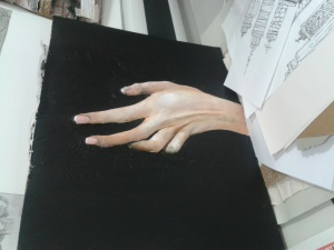 """""""Hand relief painting"""""""