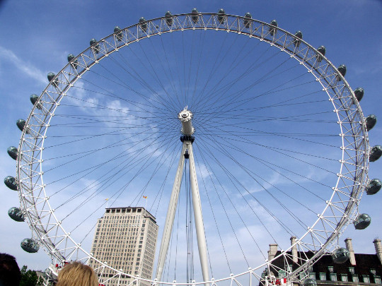 London Eye di pagi hari - gambar dari Wikimedia Commons
